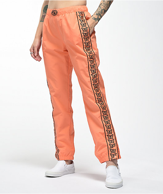Petals by Petals and Peacocks Monarch Orange Crinkle Pants