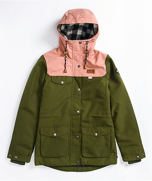 Picture Organic Kate Army Green 10K Snowboard Jacket