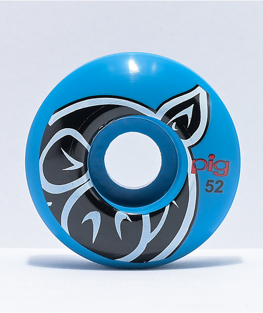 Pig 52mm 101a Blue Skateboard Wheels