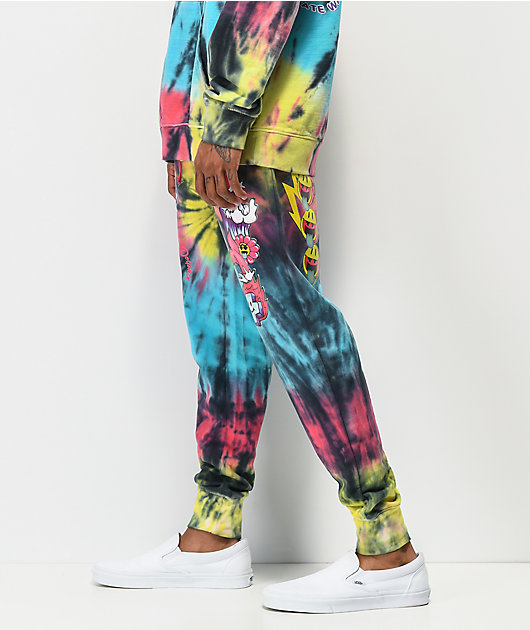 Pink Dolphin All Good Red, Yellow & Blue Tie Dye Sweatpants