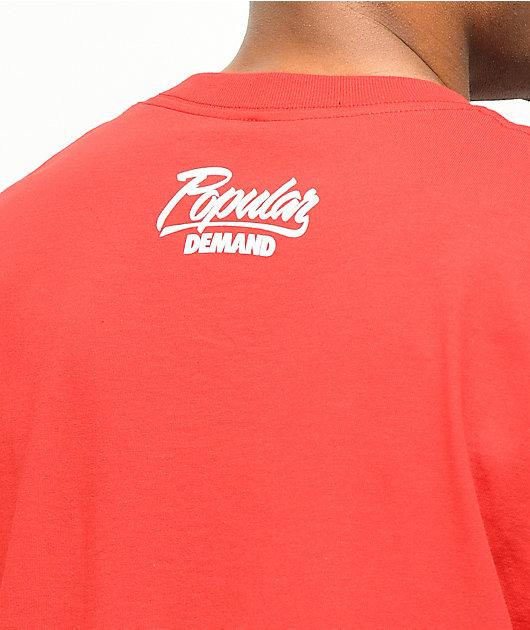 Popular Demand Smoke Red T-Shirt