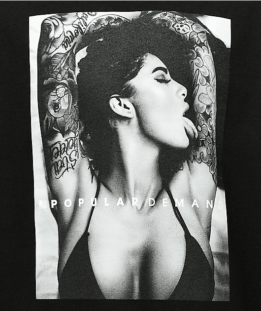 Popular Ink Love Black T-Shirt