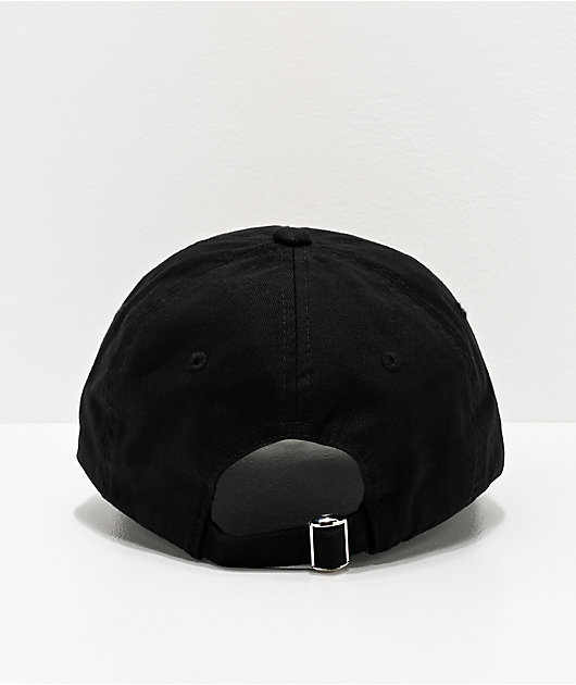 Porous Walker Mom Fart Black Strapback Hat