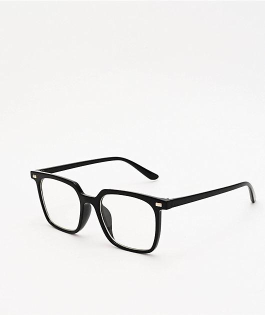 Pretender Square Frame Black Clear Glasses