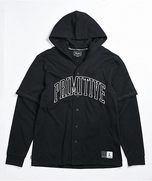 Primitive 2Fer Black Baseball Hoodie