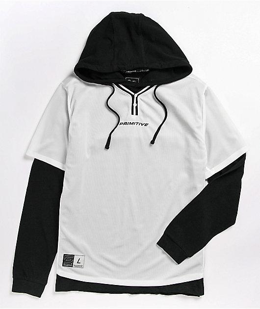 Primitive 2Fer White & Black Baseball Hoodie