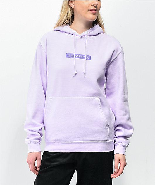 Primitive Boxed Lilac Pigment Dye Hoodie