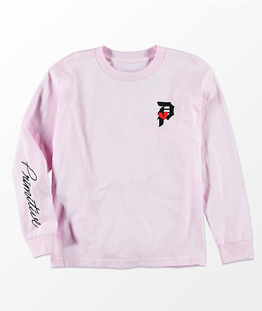 Primitive Boys Heartbreaker Pink Long Sleeve T-Shirt
