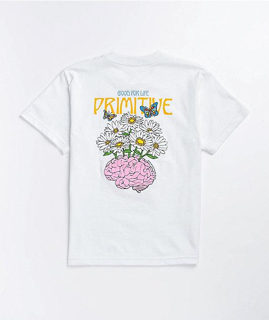 Primitive Boys Mental Wealth White T-Shirt