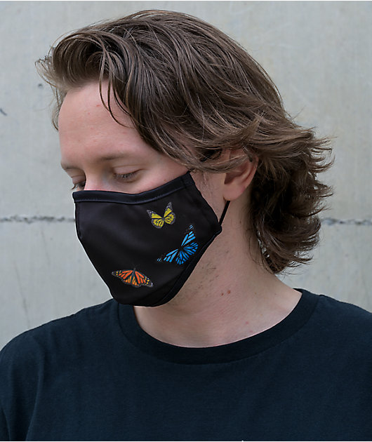 Primitive Butterfly Black Face Mask