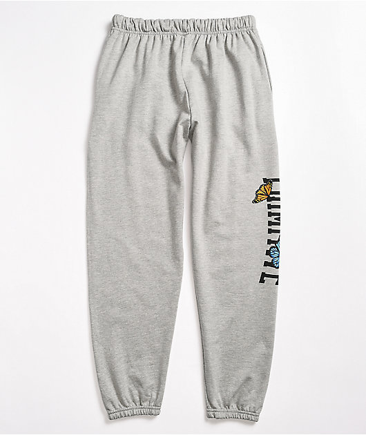 Primitive Collegiate Butterfly Light Grey Sweatpants