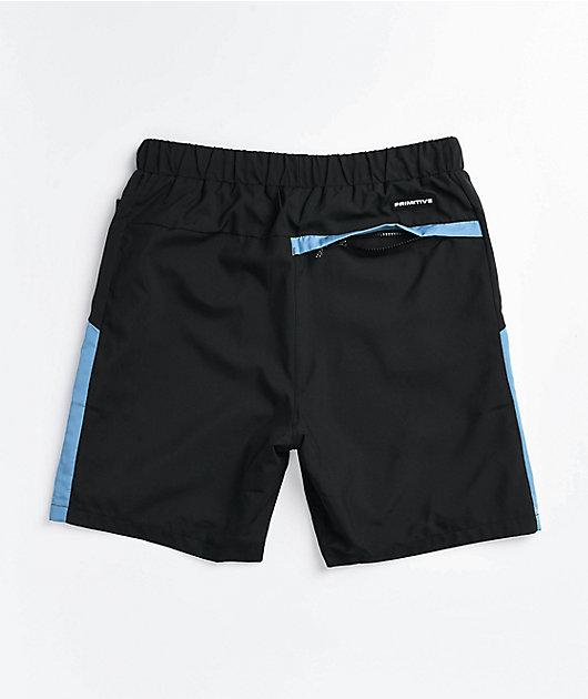Primitive Concord Black & Blue Walk Shorts