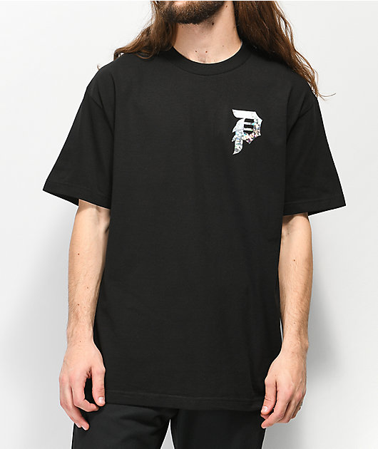 Primitive Dirty P Holographic camiseta negra