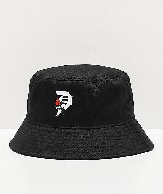 Primitive Dirty P Rosebud Black Bucket Hat
