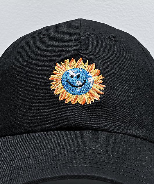 Primitive Earthy Black Strapback Hat
