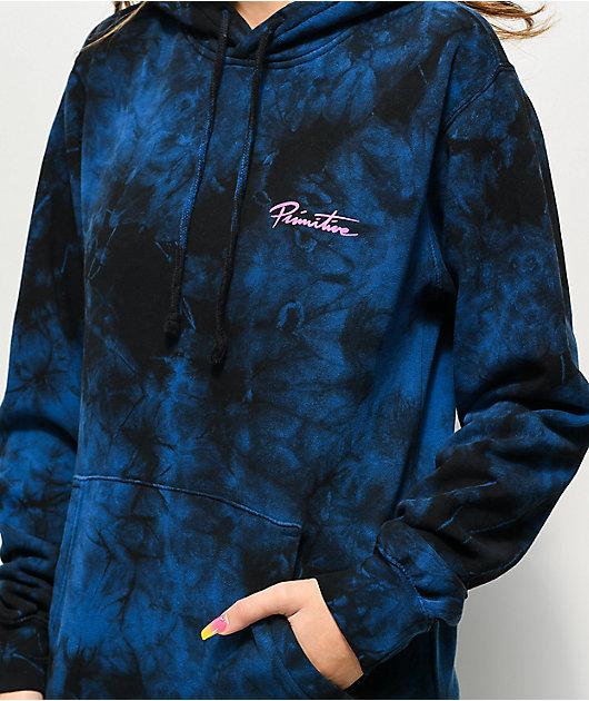 Primitive Gateway Blue Tie Dye Hoodie
