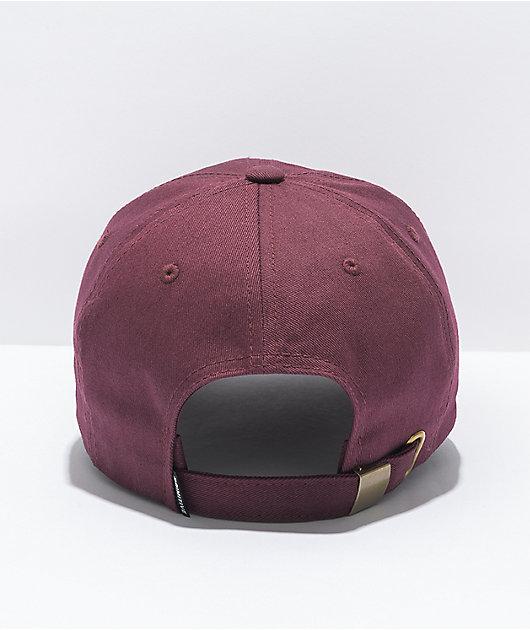 Primitive Ginza Burgundy Strapback Hat