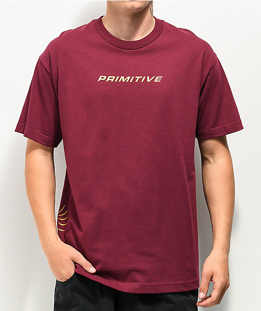 Primitive Gold Pack Imperial Burgundy T-Shirt