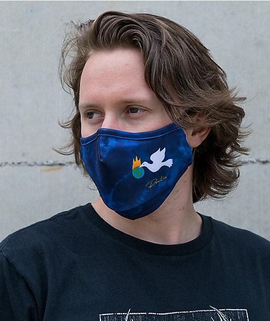Primitive Healer Blue Tie Dye Face Mask