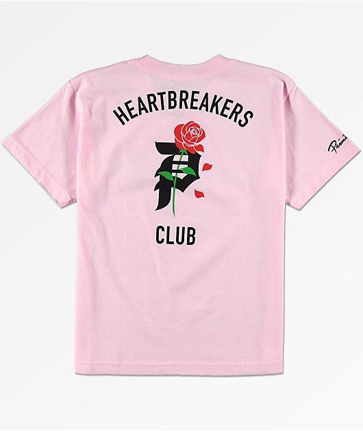 Primitive Heartbreak camiseta rosa para niños
