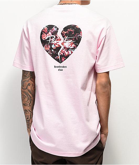 Primitive Heartbreakers Broken Pink T-Shirt