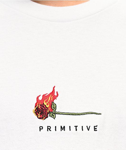Primitive Heartbreakers Burning camiseta blanca