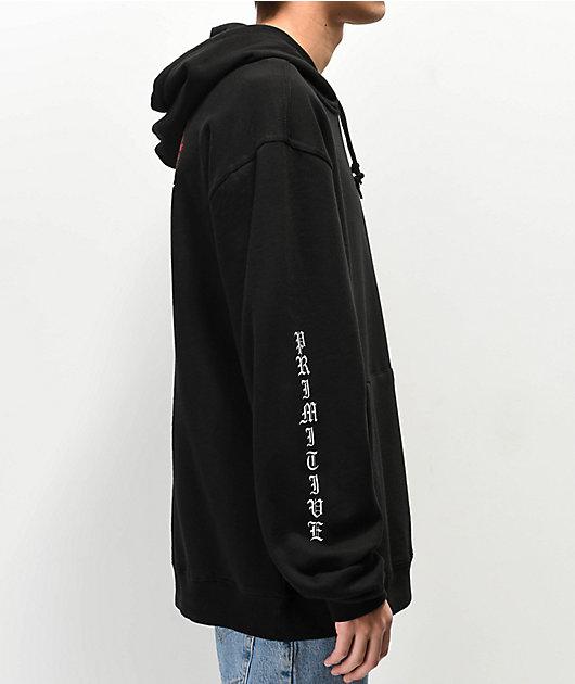 NWT BLK XLarge PRIMITIVE Men/'s Pullover Hoodie HEARTBREAKERS LOVER