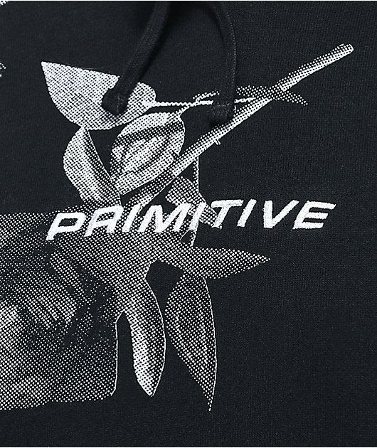 Primitive Heartbreakers Rose Black & Grey Hoodie