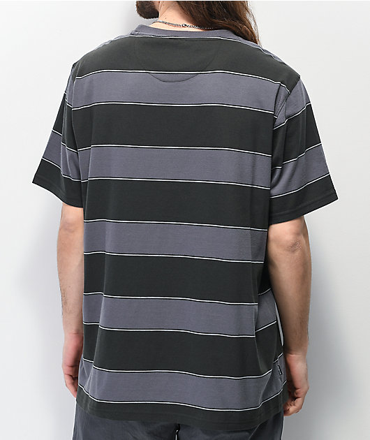 Primitive Hi Eight Black & Grey Stripe Knit T-Shirt
