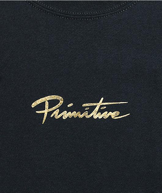 Primitive Mini Nuevo Gold Foil Black T-Shirt