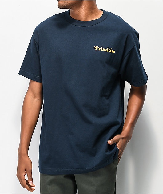 Primitive Natural Sunflower Navy T-Shirt