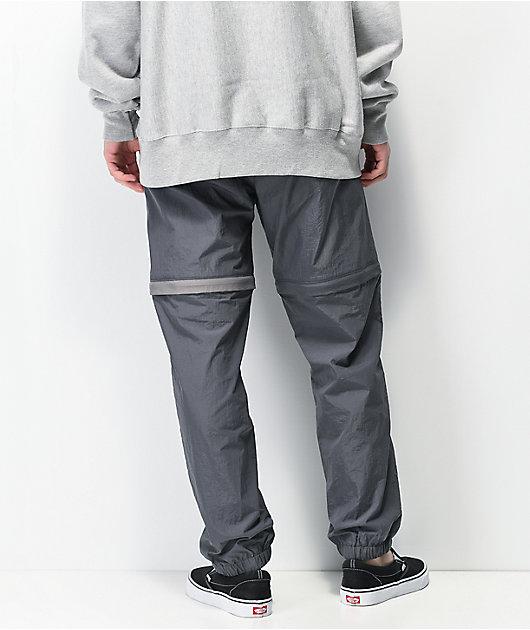 Primitive Ninety Eight Grey Zip Off Track Pants