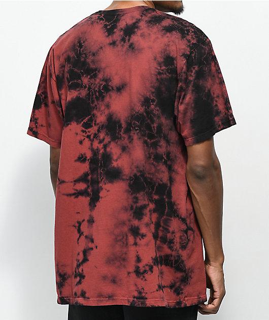 Primitive Nuevo Brick Red & Black Tie Dye T-Shirt