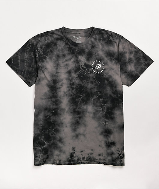 Primitive Orbit Black Crystal Wash T-Shirt