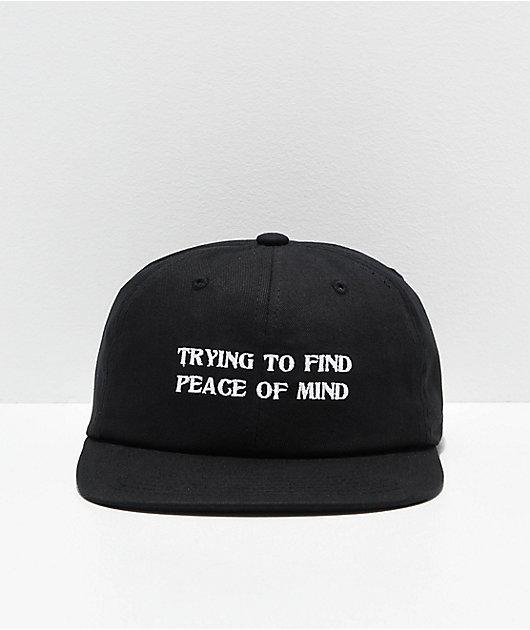 Primitive Peace Of Mind Black Strapback Hat