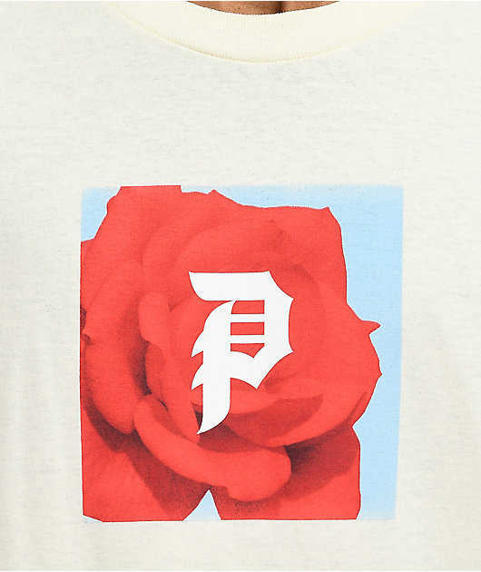 Primitive Red Rose White T-Shirt