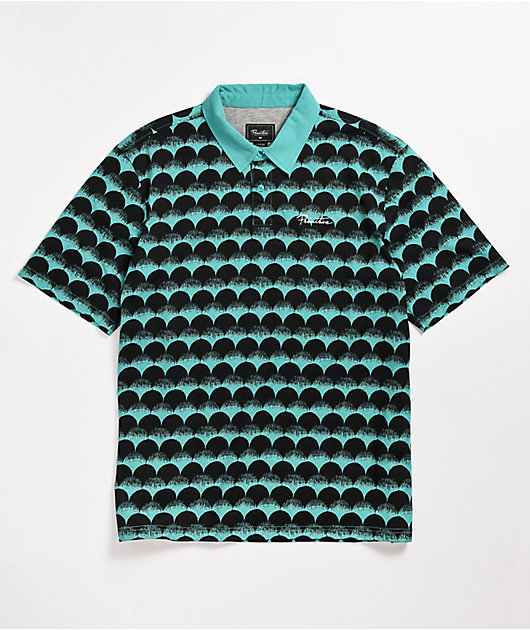 Primitive Scales Teal Polo Shirt