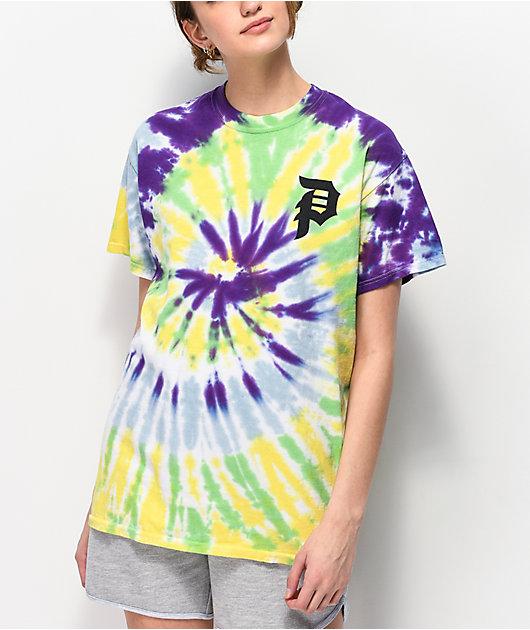 Primitive Shatter Rainbow Tie Dye T-Shirt