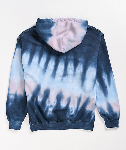 Primitive Sunny Washed Blue Tie Dye Hoodie