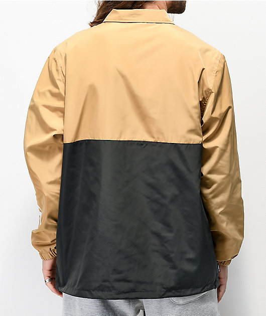 Primitive Tan & Black Anorak Coaches Jacket