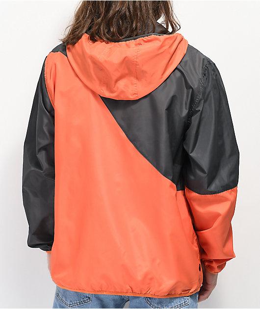 Primitive Wilshire chaqueta cortavientos naranja y gris
