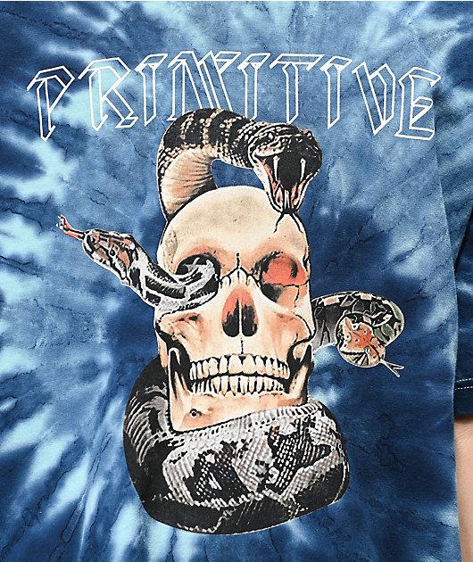 Primitive World Tour camiseta tie dye azul