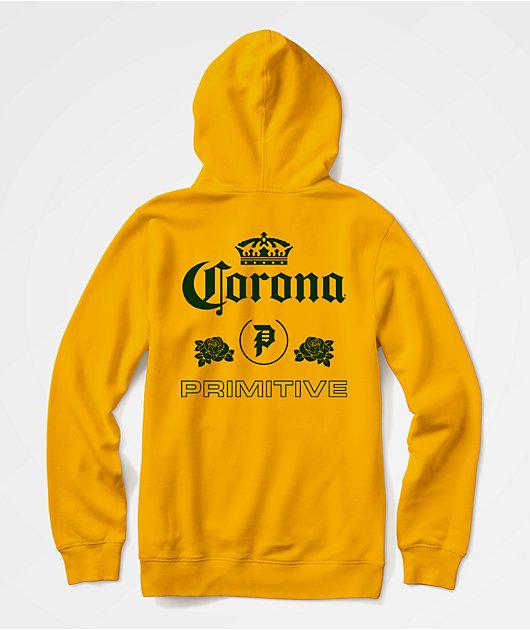 Primitive x Corona Heritage Yellow Hoodie