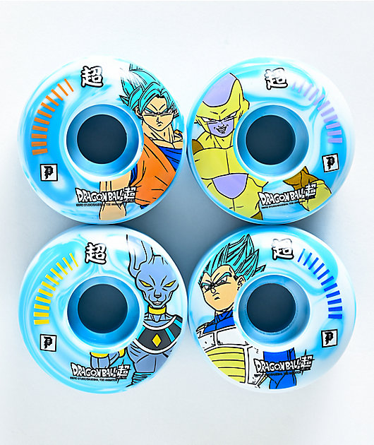 Primitive x Dragon Ball Super 52mm 101a Blue Skateboard Wheels