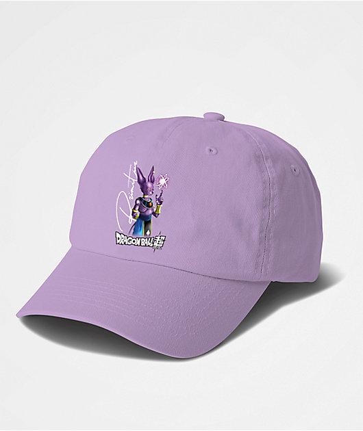 Primitive x Dragon Ball Super Beerus Orb Lavender Strapback Hat
