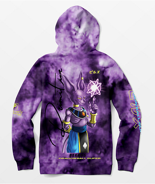Primitive x Dragon Ball Super Beerus Orb Purple Tie Dye Hoodie