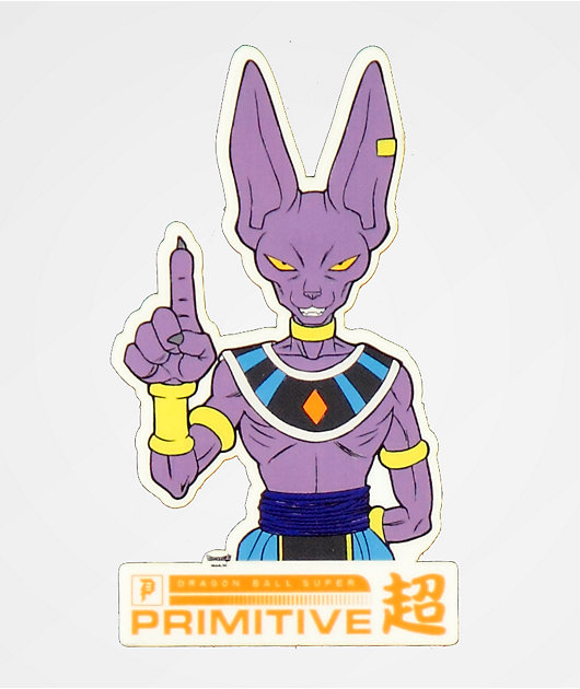 Primitive x Dragon Ball Super Beerus pegatina