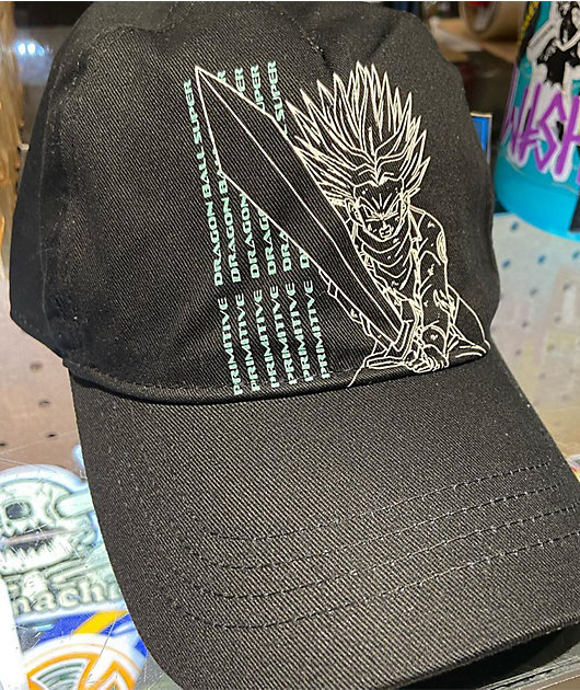 Primitive x Dragon Ball Super Future Trunks Black Strapback Hat