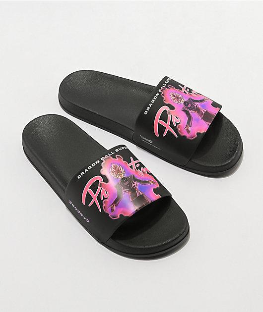 Primitive x Dragon Ball Super Goku Black Rose Slide Sandals