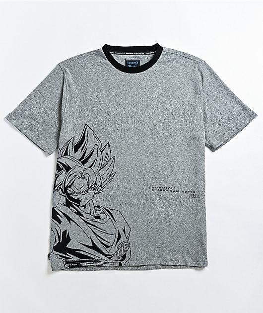 Primitive x Dragon Ball Super Goku Grey T-Shirt